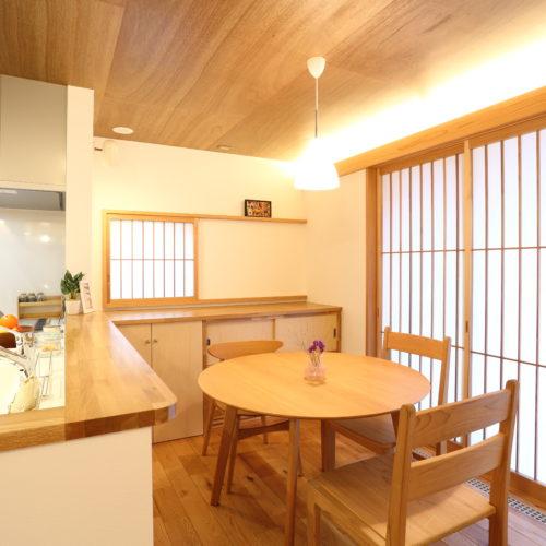 天然秋田杉の 平屋の家